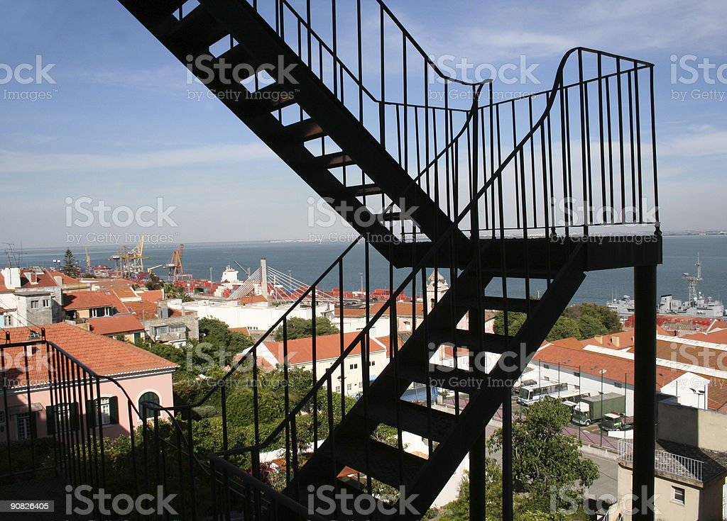 firescape stairs royalty-free stock photo