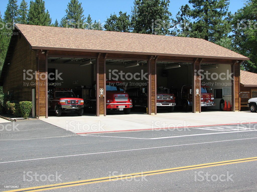 Firestation royalty-free stock photo
