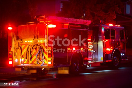 Firefighters respond to the scene of an incident.