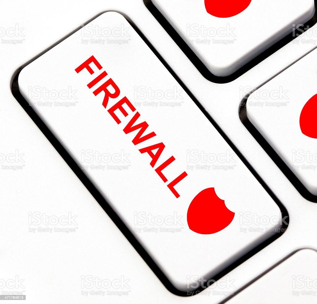 Firewall button on keyboard royalty-free stock photo