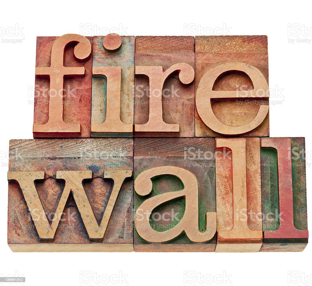 firewall - network security concept royalty-free stock photo