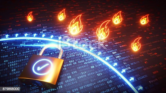 istock Firewall Protection Lock 879868000