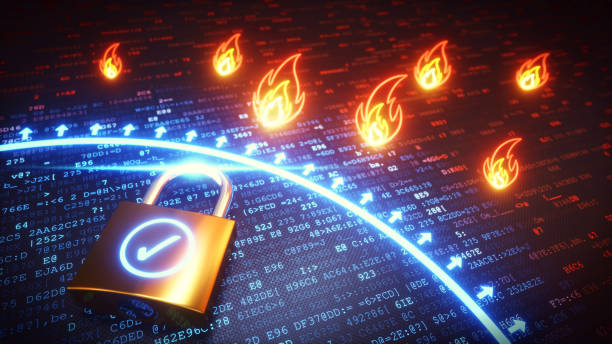 Firewall Protection Lock - foto stock