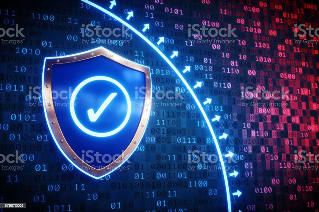 Firewall Protection Shield stock photo