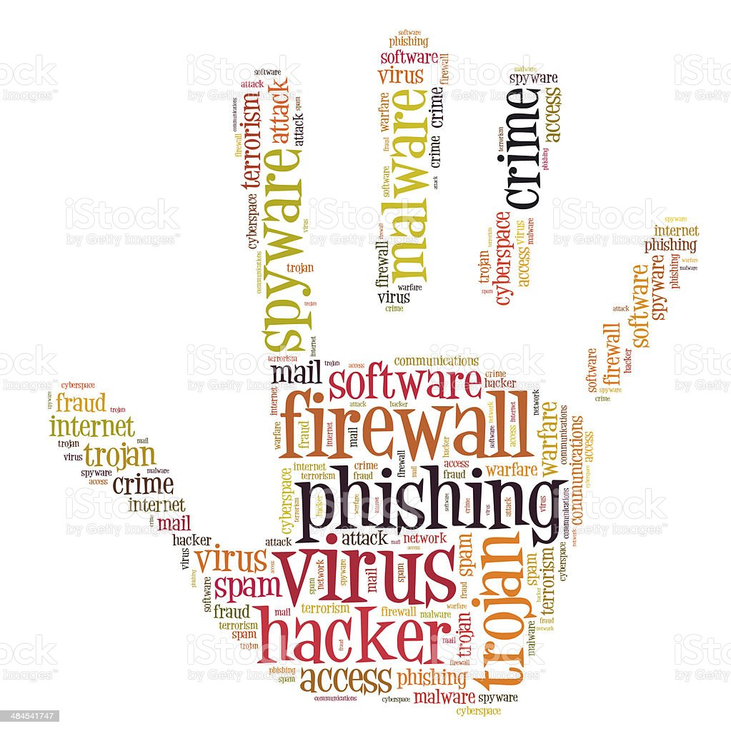 Viral Word: Firewall Virus Word Cloud Stock Photo & More Pictures Of
