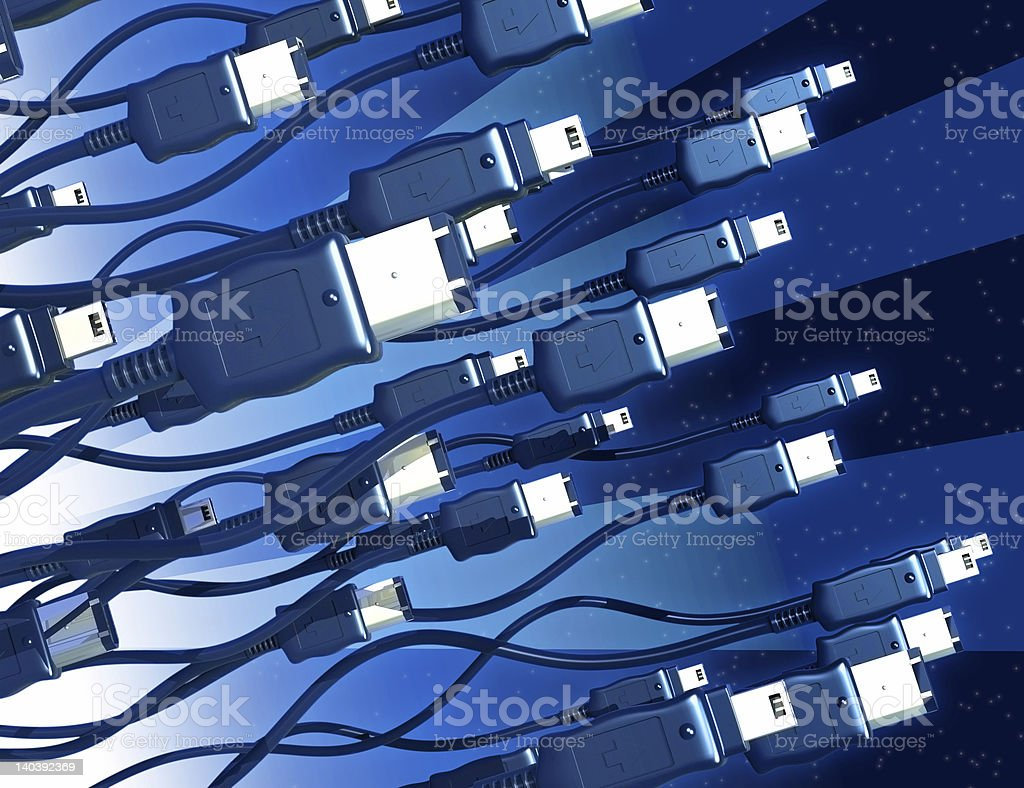 FireWires Take Off royalty-free stock photo