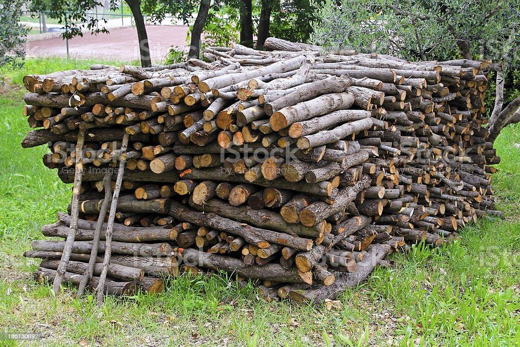 Firewood bunch stock photo
