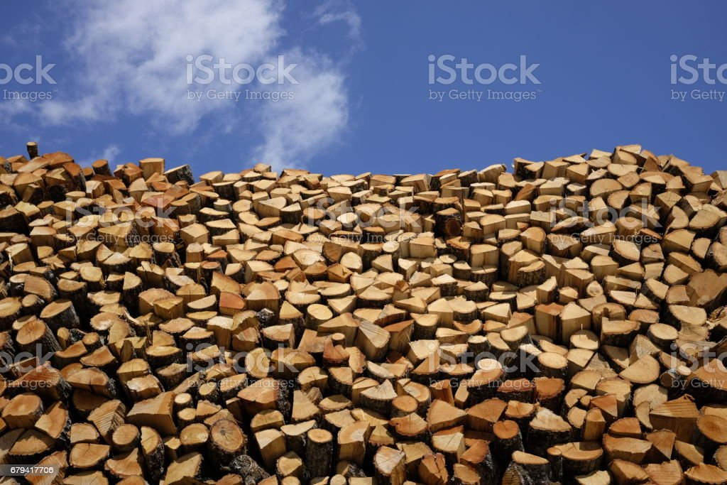 Firewood for fireplaces royalty-free stock photo