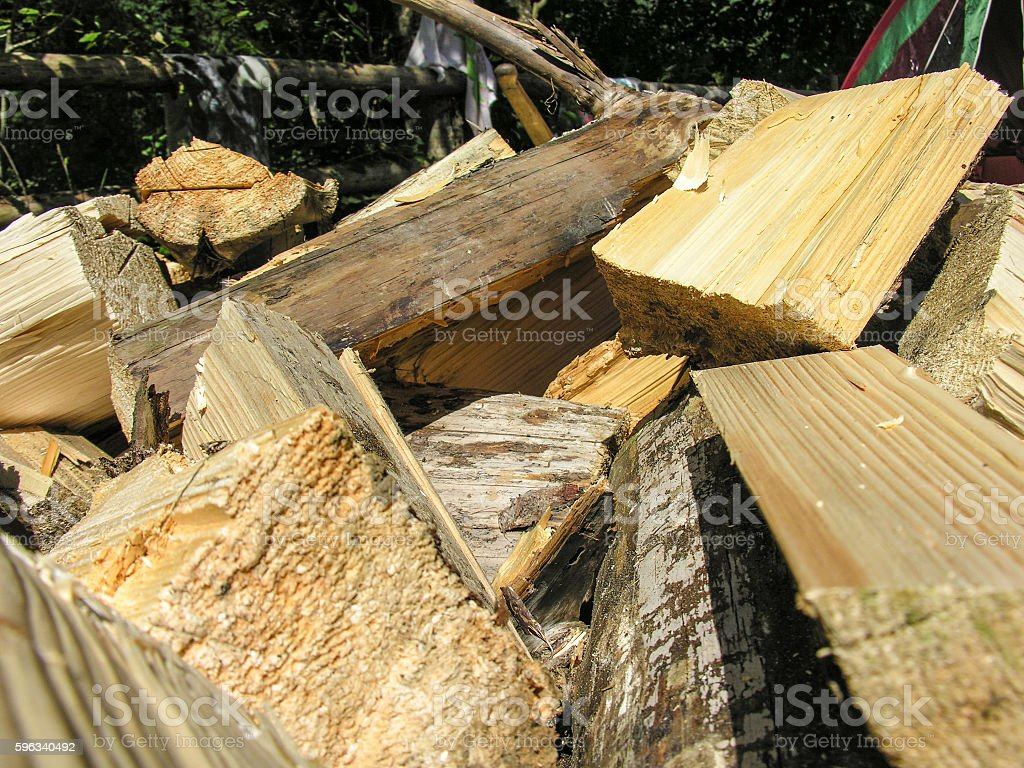Firewood for the fire royalty-free stock photo