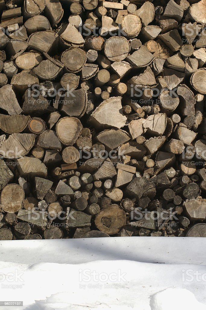 Firewood in Winter royalty-free stock photo