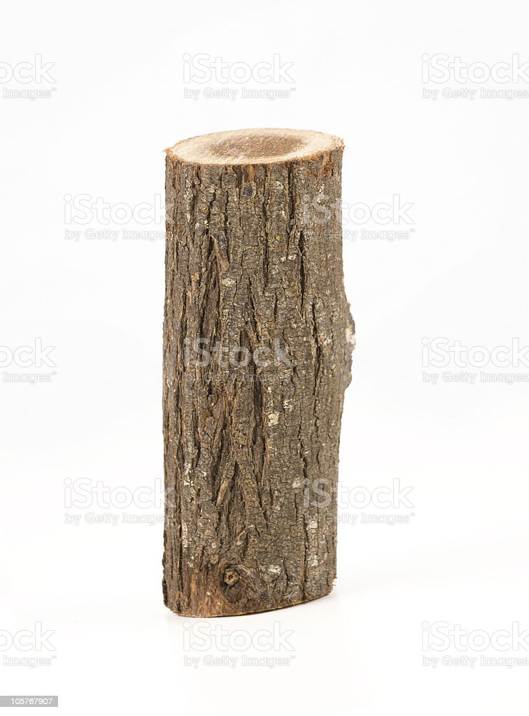 firewood isolated on white background stock photo
