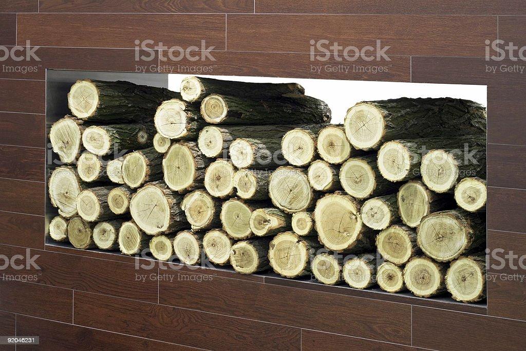 Firewood log royalty-free stock photo