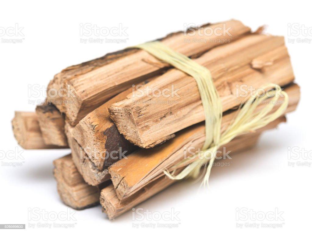 firewood on white stock photo