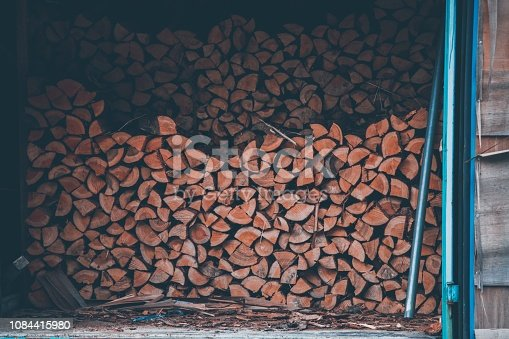 Firewood in Japan country side