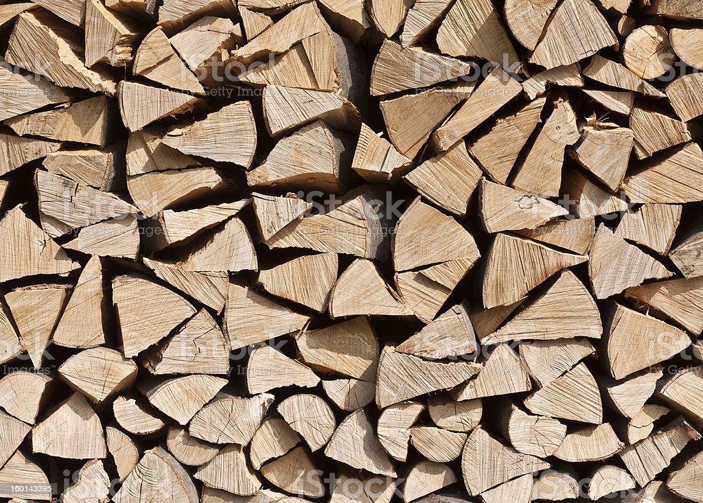 Firewood Pile royalty-free stock photo