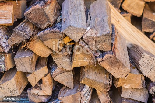 firewood ready to use in fire