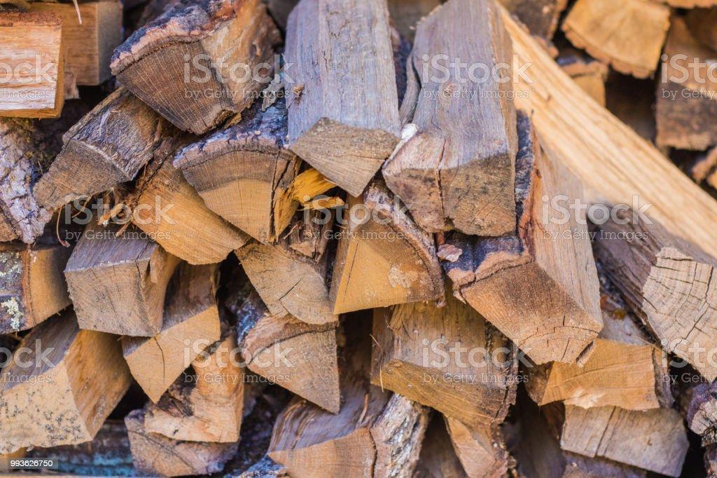 Brennholz in Feuer einsatzbereit – Foto