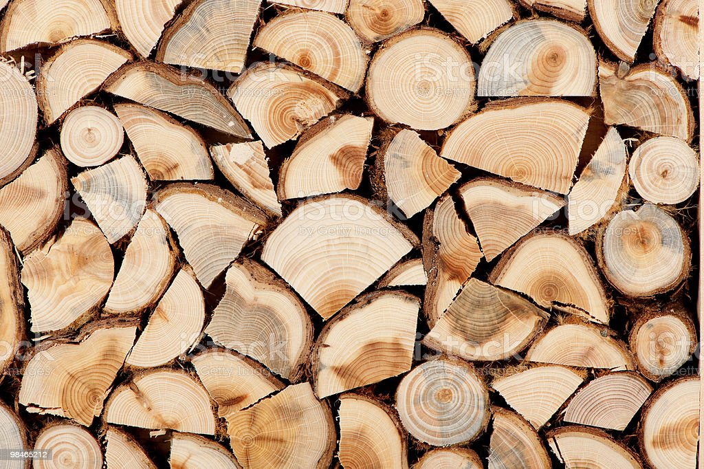 Firewood stack royalty-free stock photo