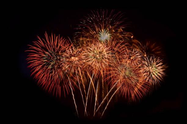 firework abstract background,fireworks light up the sky with dazzling display - happy 4th of july zdjęcia i obrazy z banku zdjęć