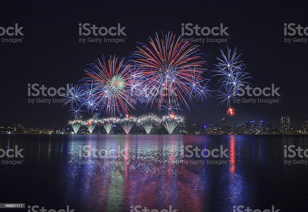 Firework Australia Day stock photo