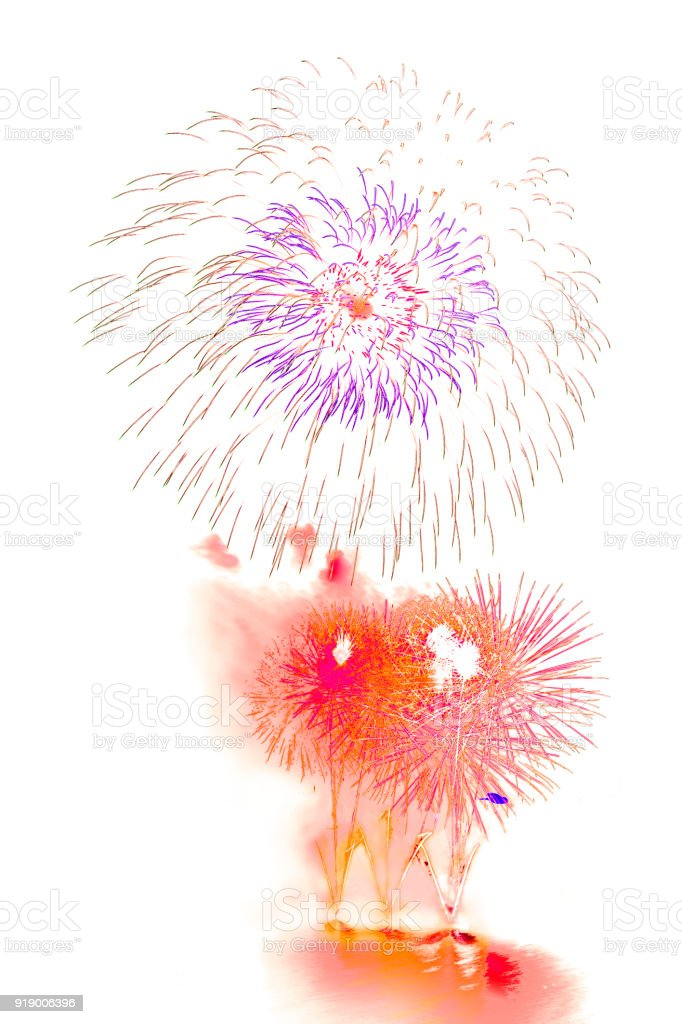 Firework Beautiful Colorful Fireworks For Celebration Happy New Year ...