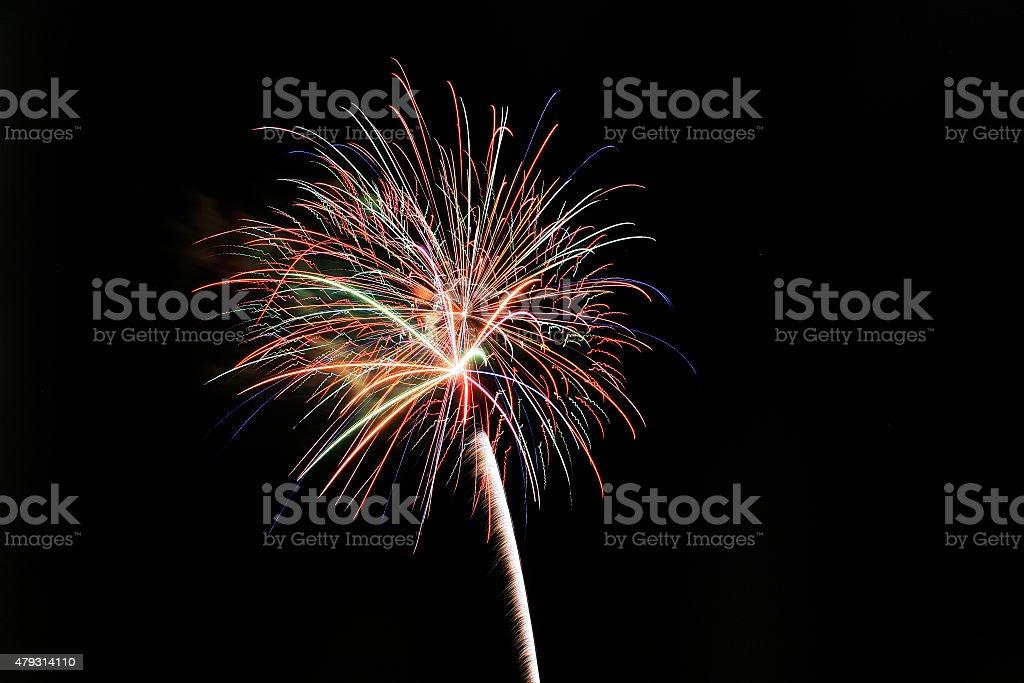 Firework Blast with Tail stock photo