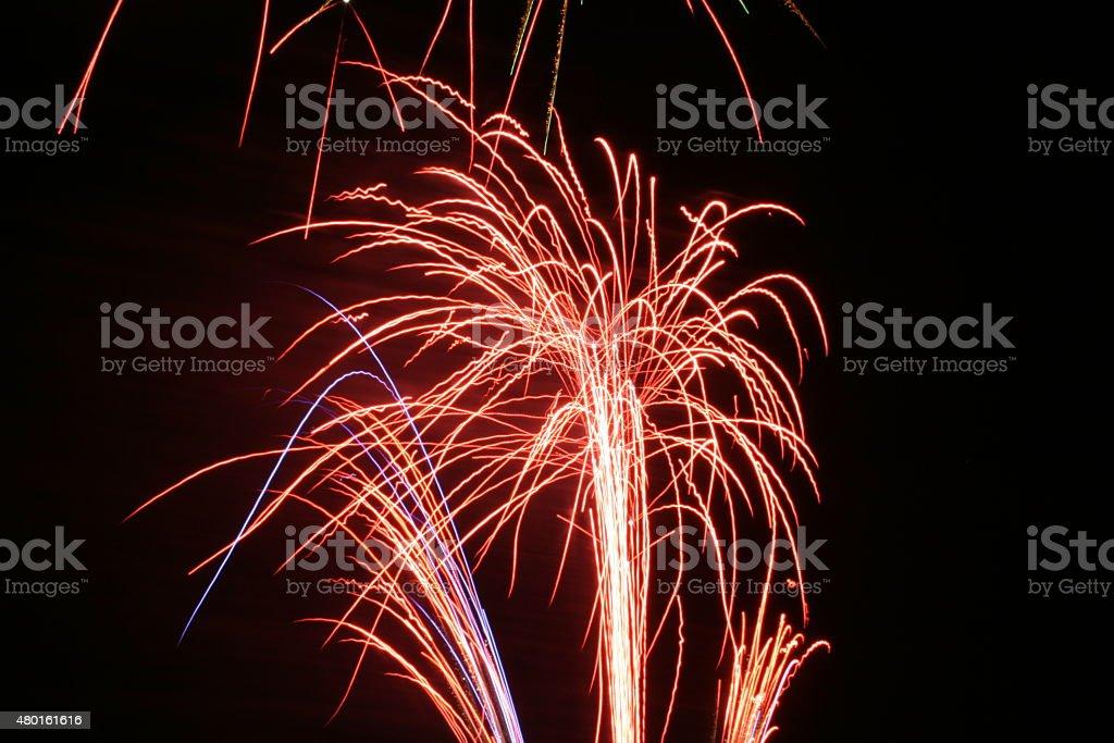 Firework Blasts - Red stock photo