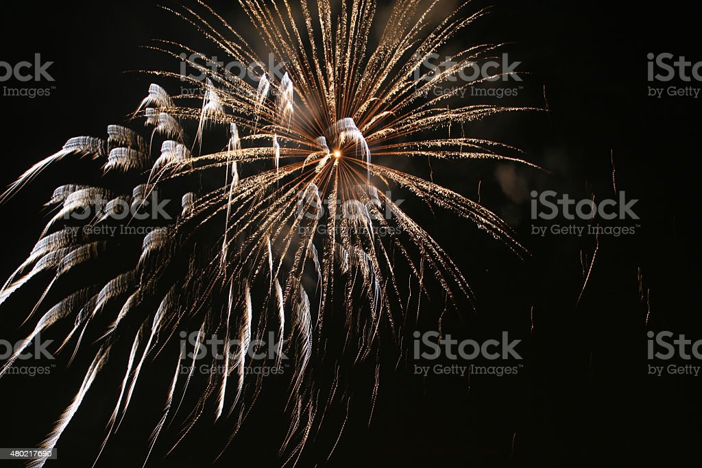Firework Blasts - White stock photo