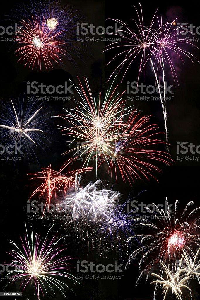 Firework Bursts royalty-free stock photo