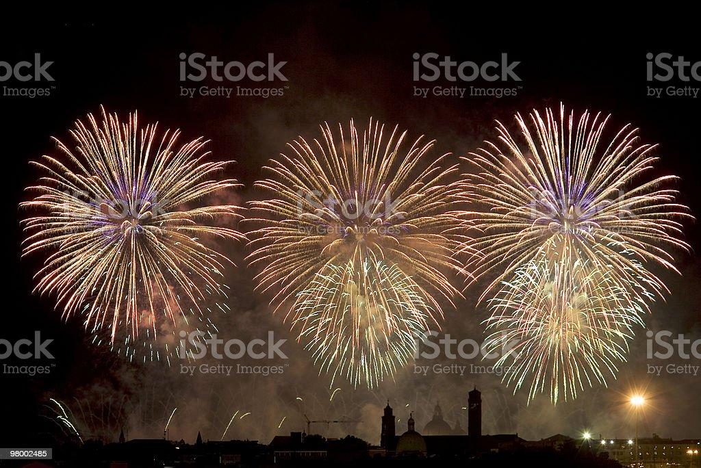Festa de fogos de artifício foto royalty-free