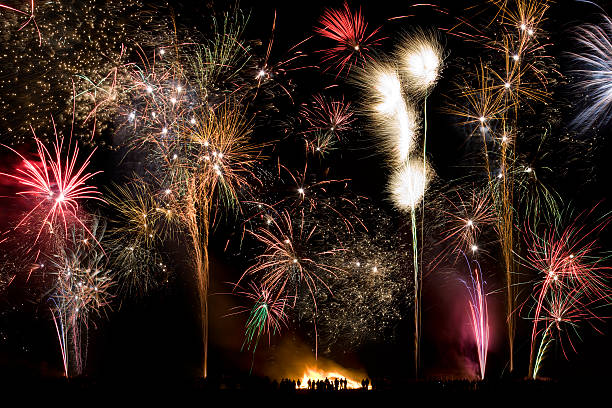 Firework Display - 5th November - England stock photo