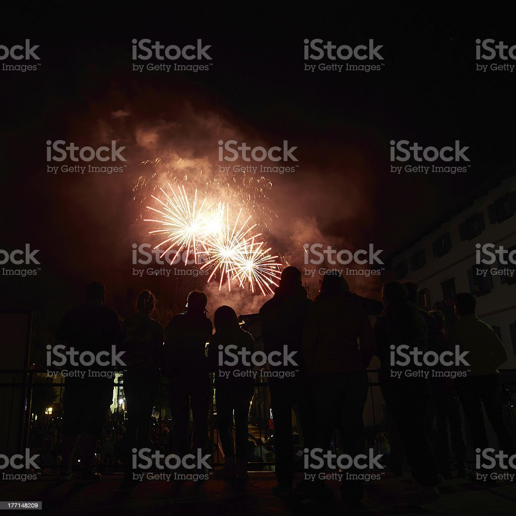 Firework Display. Color Image royalty-free stock photo