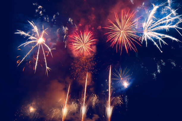 Firework Display For Celebration Events stock photo