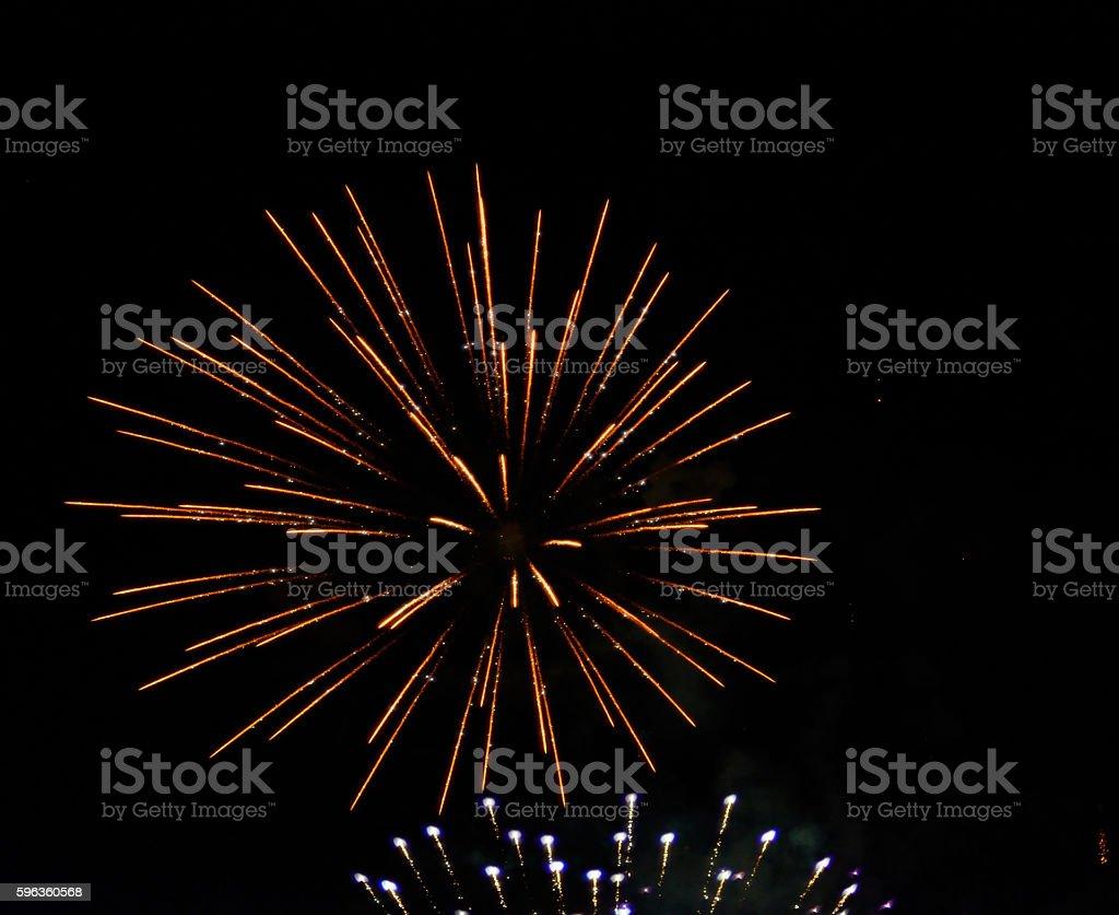 Firework Display - Holiday Celebration royalty-free stock photo