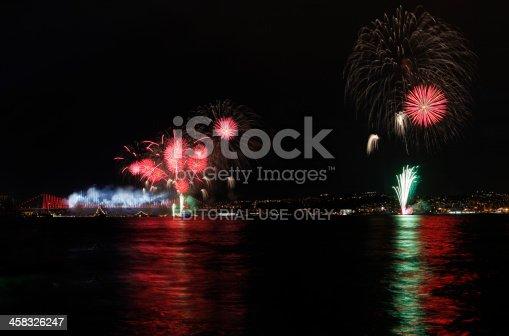 istock Firework display in Istanbul,Turkey 458326247