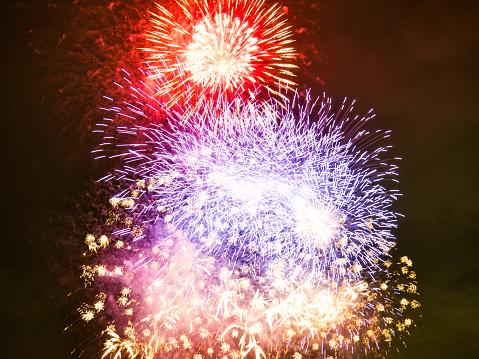 Japanese summer firework festival.