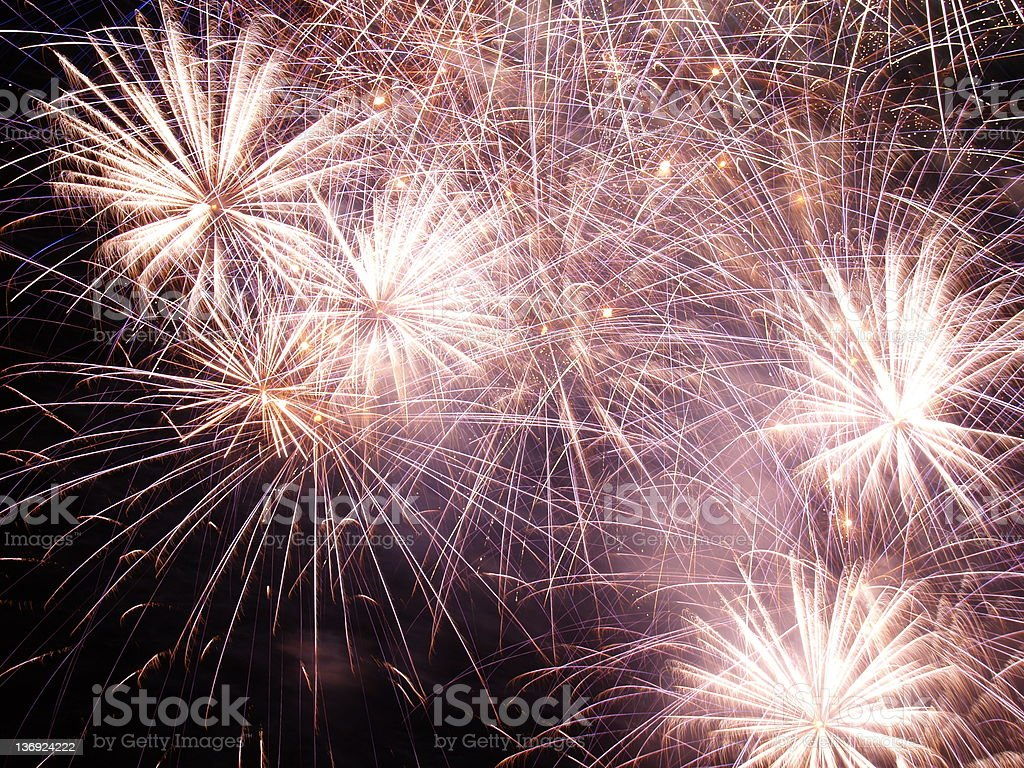 Firework Finale stock photo