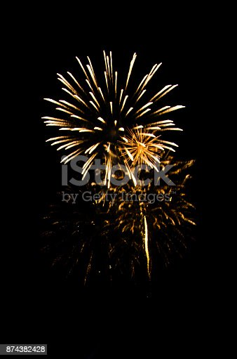 istock firework for background,Fireworks light up the sky,New Year celebration 874382428
