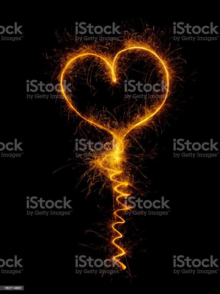 Firework Love Heart royalty-free stock photo