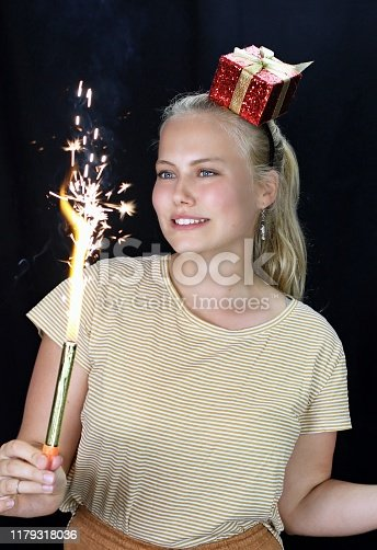 This young woman celebrates a special occasion.