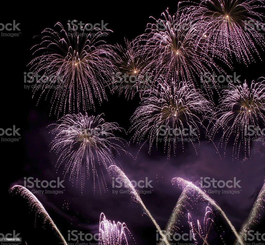 Fuego artificial foto de stock libre de derechos