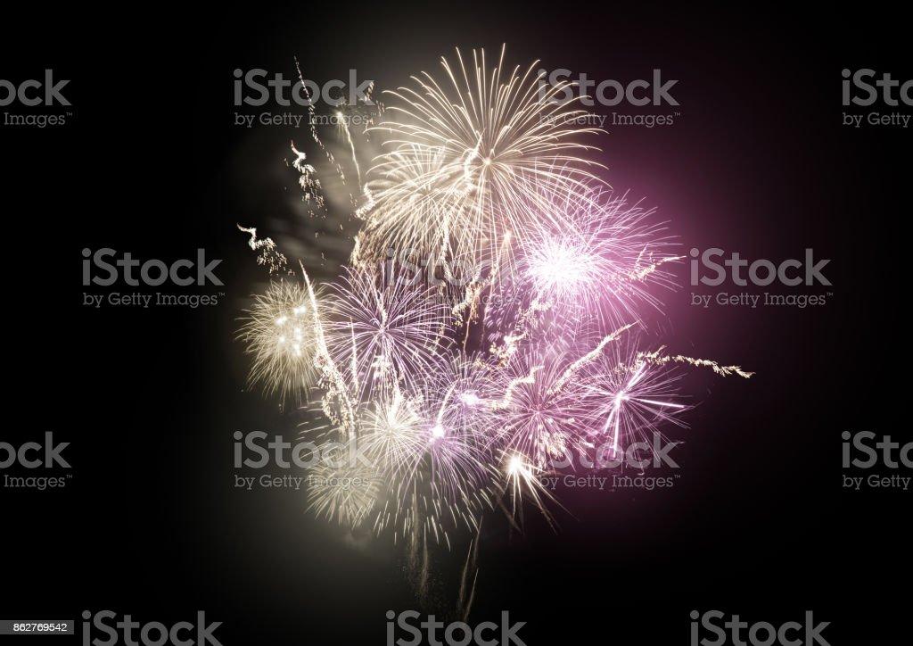 Firework Rocket Display stock photo
