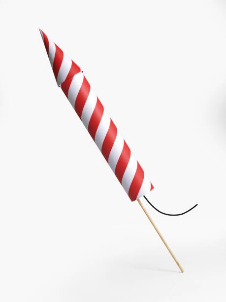 Firework Rocket Isolated On White Background stock photo