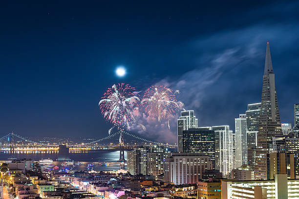 Firework San Francisco stock photo