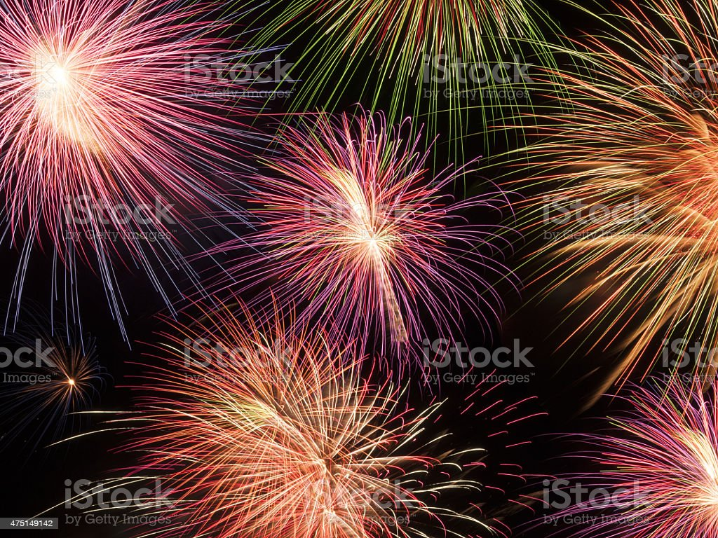 Firework texture and abstract  Backgroungs stock photo