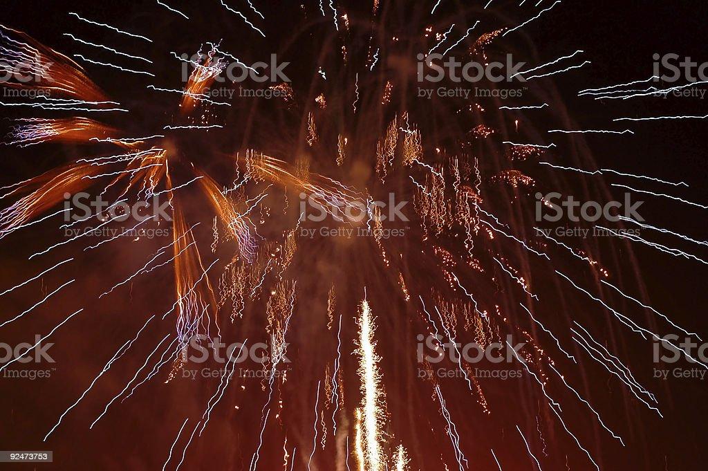 Fireworks 3 royalty-free stock photo