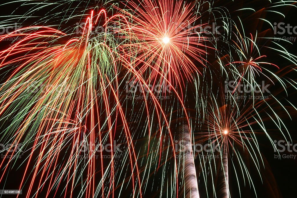 Fireworks 6 royalty-free stock photo
