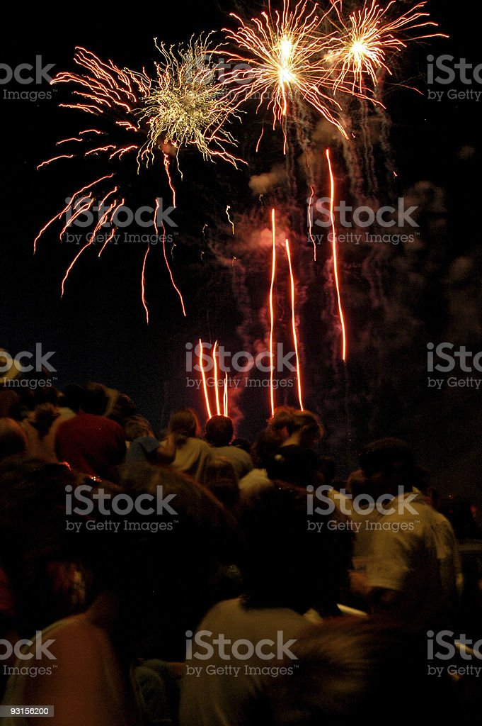 fireworks 7 royalty-free stock photo