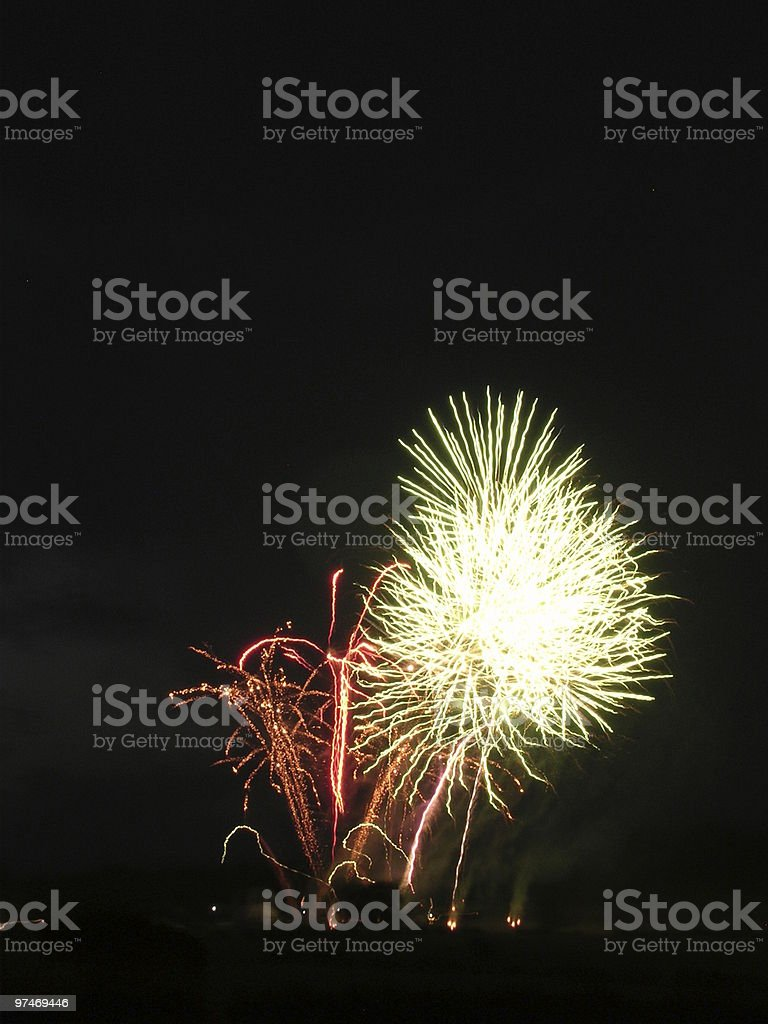 Fireworks 8. Dandelion Seed. stock photo