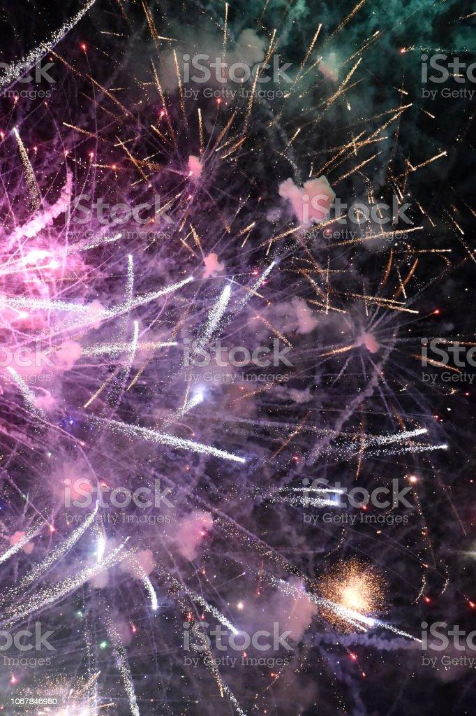 Fireworks Above stock photo